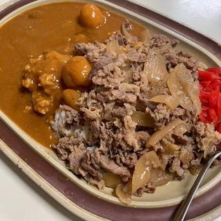 牛丼&カレーのW盛合わせ(タブチ )