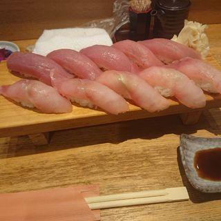 メヌキとマグロの10貫寿司
