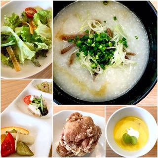 中華粥セット(ランチ)(中華ダイニング グルペット)
