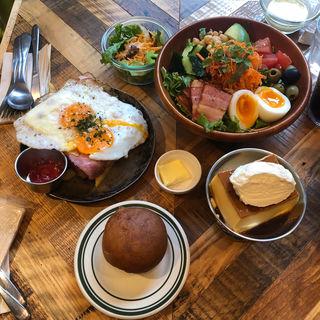 エッグトースト with フレンチフライ(Egg Baby Cafe)