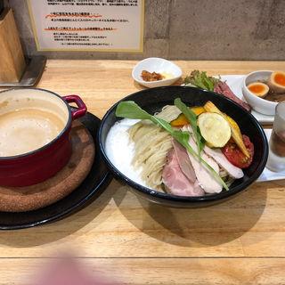 ポルチーニ茸のつけ麺 中盛 ぜいたく盛り(麺家獅子丸)
