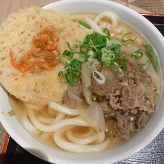 肉えび天うどん(因幡うどん 福岡空港店)