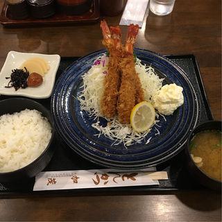 エビフライ定食(とんかつ加茂 )