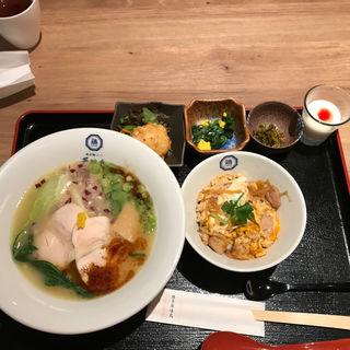 博多鶏ソバ金華御膳(博多鶏ソバ華味鳥 阪急うめだ本店)