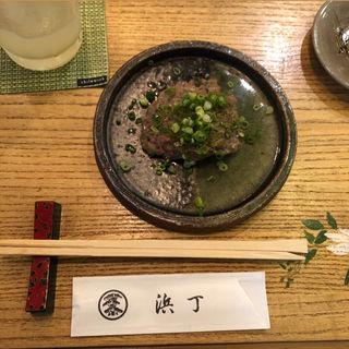 鯵のなめろう(浜丁寿司)
