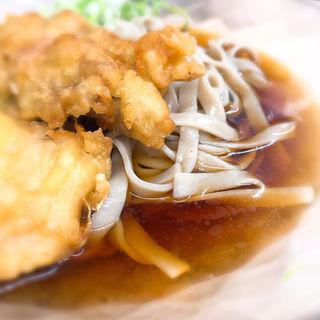 鶏天極上太麺そば(冷)(雑賀屋)