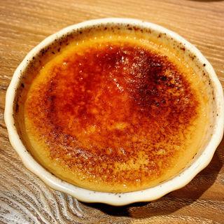抹茶のクリームブリュレ(うしごろバンビーナ・カルボーネ 中目黒店 )