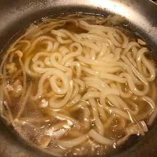 もつ鍋のしめのうどん(ウエスト 平尾店)