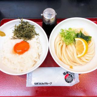 とろろ卵丼セット (生醤油うどん)(極楽うどん TKU (ティーケーユー))