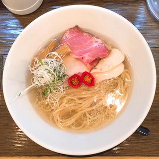 エソ煮干しの冷やし塩らーめん(金彩〜KinIro〜)