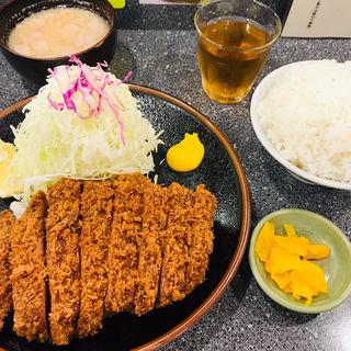 リブロースかつ定食(とんかつ檍 大門店)