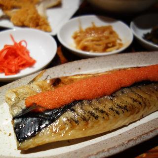 博多明太とろ鯖塩焼き定食 ミニラーメン付(替玉無料)(麺や おの食堂)