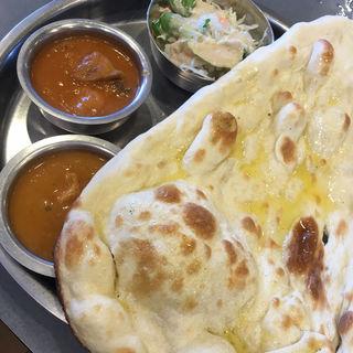 Bランチ(チキンカレー・日替わりカレー)(インド・ネパールレストラン&バー SAGUN 味楽亭店 (サグン))