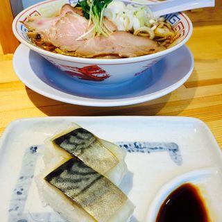 サバ醤油そばサバ寿司2カンセット(サバ6製麺所 阪急梅田店)