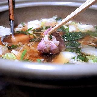 カモ鍋(谷中の雀 )