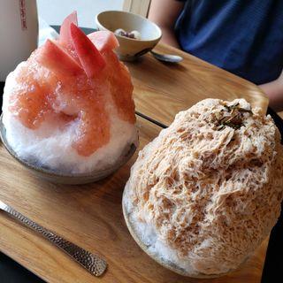 ほうじ茶かき氷(和菓子このわ)