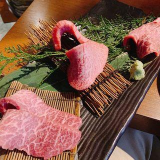 赤身 三点盛り定食(赤身肉 じゃんか 赤坂 )
