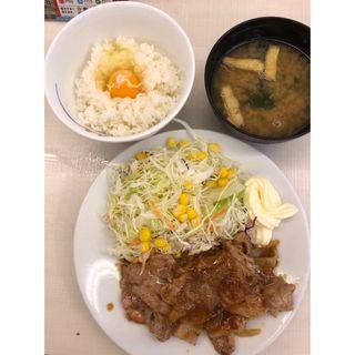 豚肩ロースの生姜焼き定食(松屋 谷町九丁目店 )