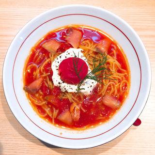 冷たいトマトクリームラーメン(拉麺開花)
