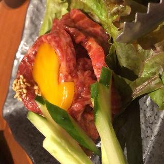炙りユッケ(山本牛臓 麻布十番店 )