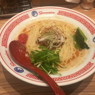 豆乳冷やし担々麺(ソラノイロ ニッポン (ソラノイロ NIPPON))