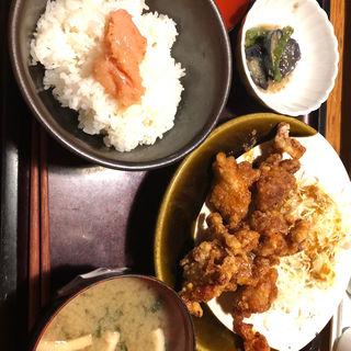 鶏の唐揚げ定食(やまや 京阪京橋店 )
