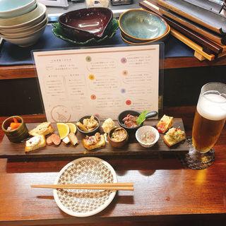 一口前菜盛り合わせ ほぼ全部のせ(ienomi〜スタンド日和〜)