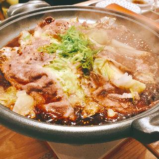 黒毛和牛とレタスの焼しゃぶ(肉のコトブキ 虎ノ門店)