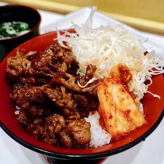タレ焼肉丼(並)(牛焼き みらく 阪神スナックパーク)