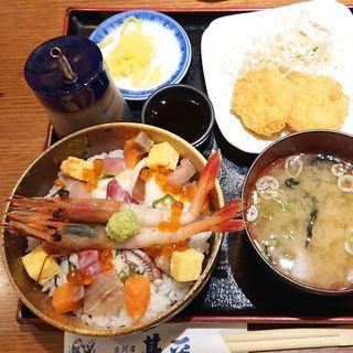 あられ丼セット(魚河岸 甚平 パセオ店 )