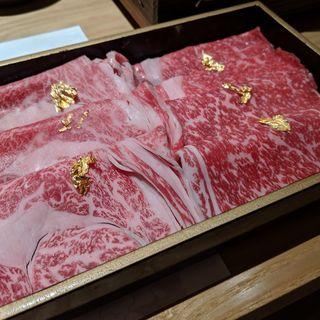神戸牛しゃぶしゃぶ 特上(赤身、霜降り)(おもき 離れ 銀座店)