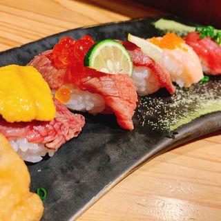 肉寿司盛り合わせ上(肉料理 肉の寿司 okitaya)