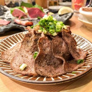 牛タンの炭火炙り(かしわ屋)