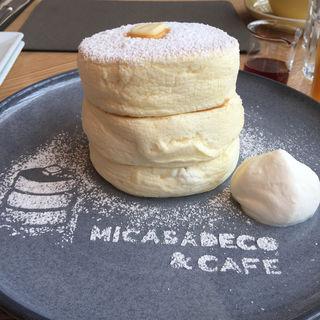 ふわふわリコッタパンケーキ(MICASADECO&CAFE神宮前)