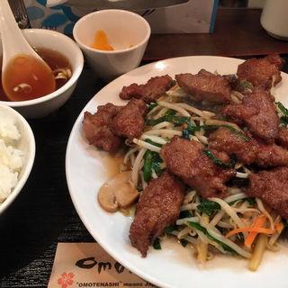 国産豚レバー定食(kei楽 (ケイラク))