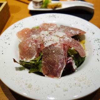 生ハムサラダ(あか牛Dining yoka-yoka KITTE博多店)