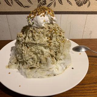 ピスタチオとホワイトチョコケーキ(ボンヌ カフェ 十条店 (Bonnel Cafe))