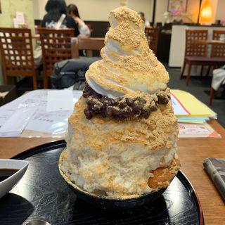 きな粉ミルクソフト氷(甘味処 古今茶家 )
