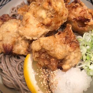 鶏天そば(おらが蕎麦京都AVANTI店)