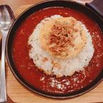 焼きカマンベールのトマトカレー