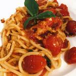 雲丹とトマトのパスタ