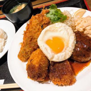 B定食(カニクリームコロッケ 目玉焼きトッピング)(グリル ロン 阪急三番街店)