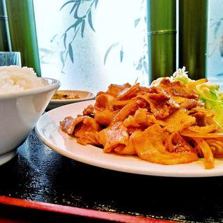 豚肉の生姜焼き定食(祥龍房 新宿イーストサイドスクエア店 )