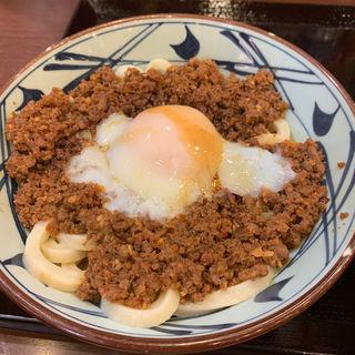 旨辛肉々釜玉(丸亀製麺 中野坂上 )