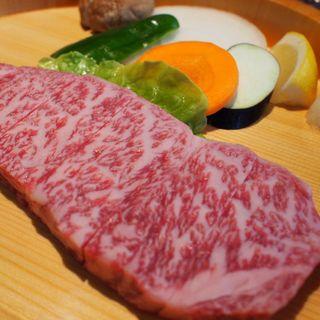 前沢牛 石焼サーロインステーキ定食 100g(前沢牛オガタ 味心)