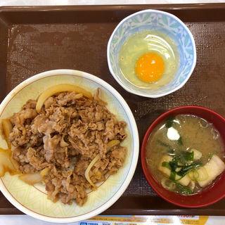 牛丼中盛りセット(すき家 上六店 )