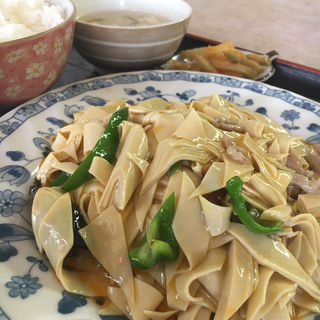 豆腐の皮炒め定食(來福 (ライフク))