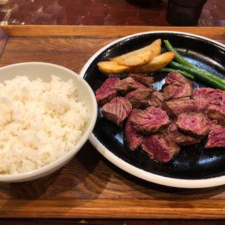 番人ステーキ定食(大)