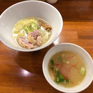 魚介と阿波尾鶏すだちつけめん(醤油と貝と麺 そして人と夢 )