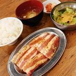 鹿児島豚のカルビ焼肉定食